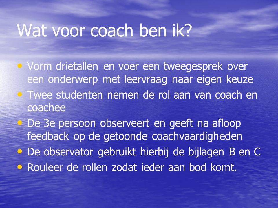 Wat voor coach ben ik.