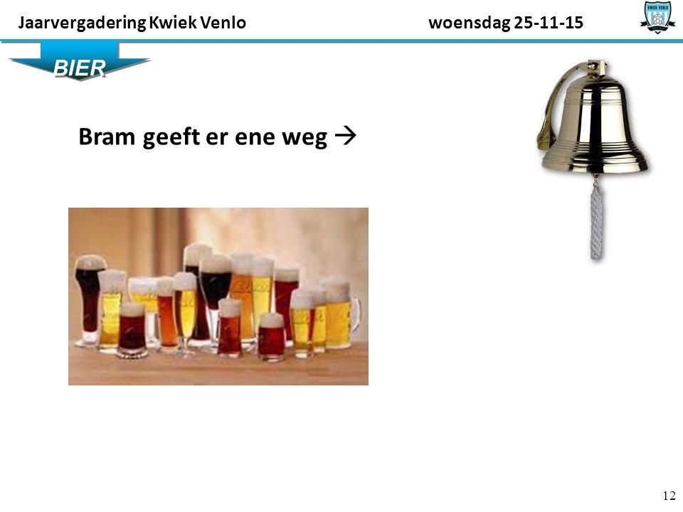 12 BIER Bram geeft er ene weg  Jaarvergadering Kwiek Venlowoensdag 25-11-15