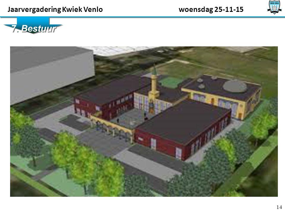 14 7. Bestuur Jaarvergadering Kwiek Venlowoensdag 25-11-15