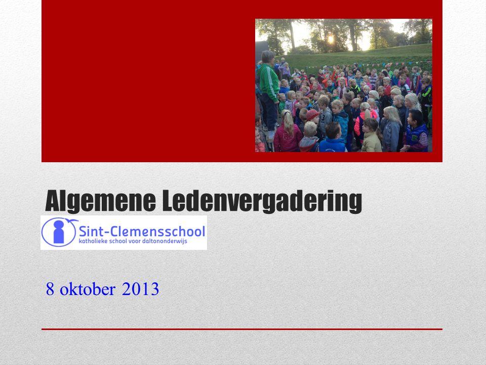 Algemene Ledenvergadering 8 oktober 2013