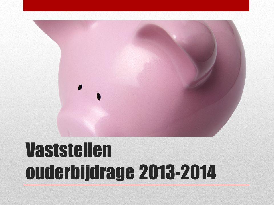 Vaststellen ouderbijdrage 2013-2014