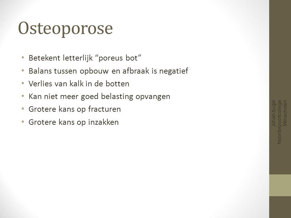 Minder kalk Johan bugel Noorderpoortcollege Winschoten