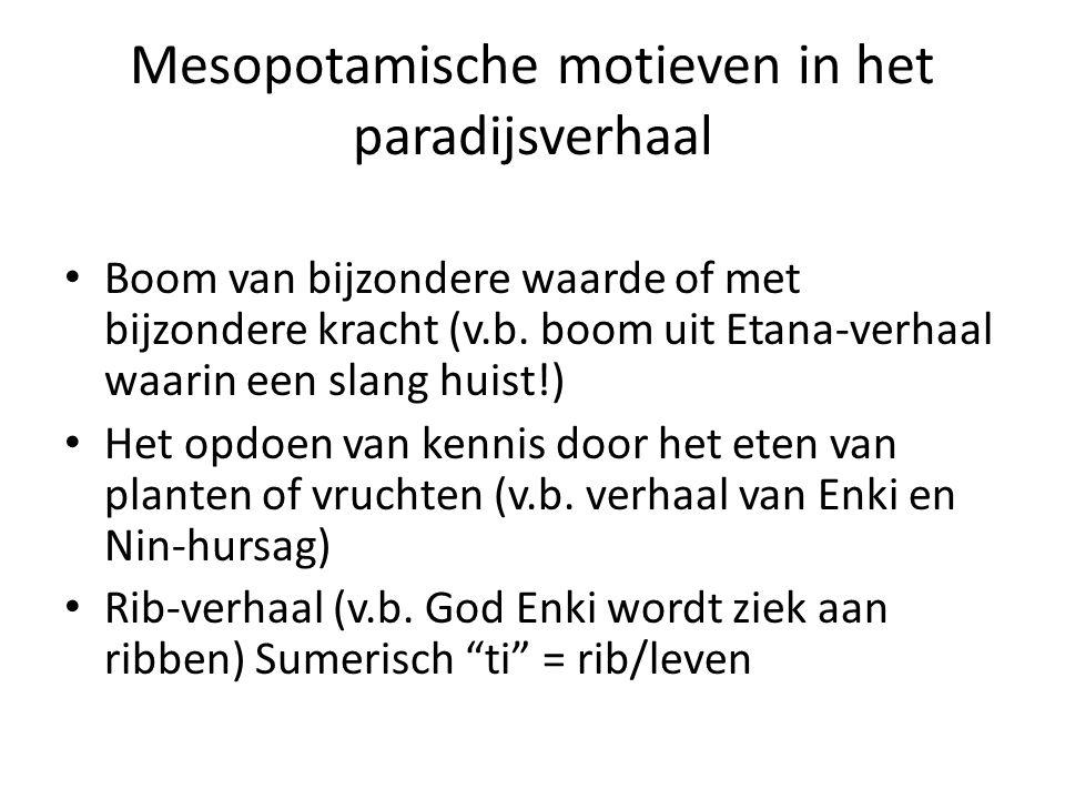 Mesopotamische motieven in het paradijsverhaal Boom van bijzondere waarde of met bijzondere kracht (v.b.