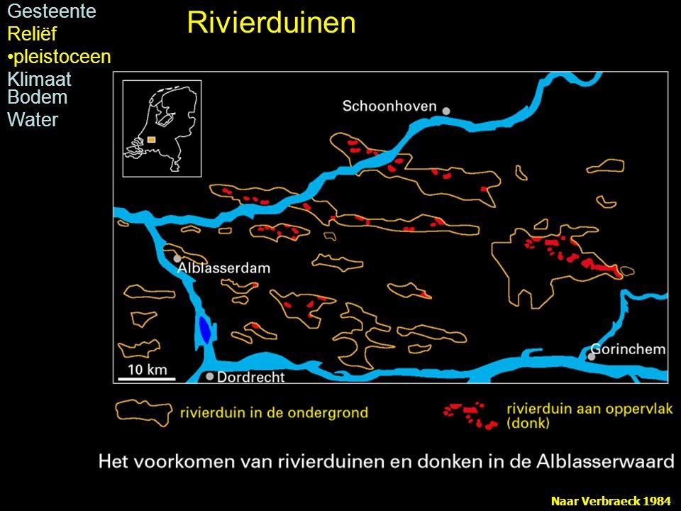Naar Verbraeck 1984 Rivierduinen Gesteente Reliëf pleistoceen Klimaat Bodem Water