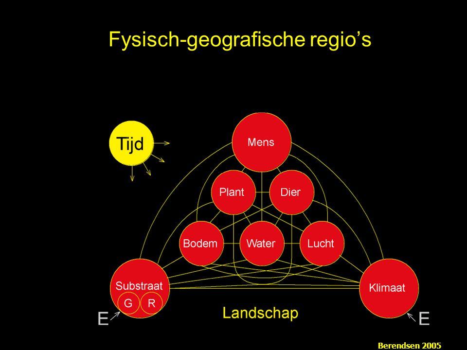 Fysisch-geografische regio's Berendsen 2005