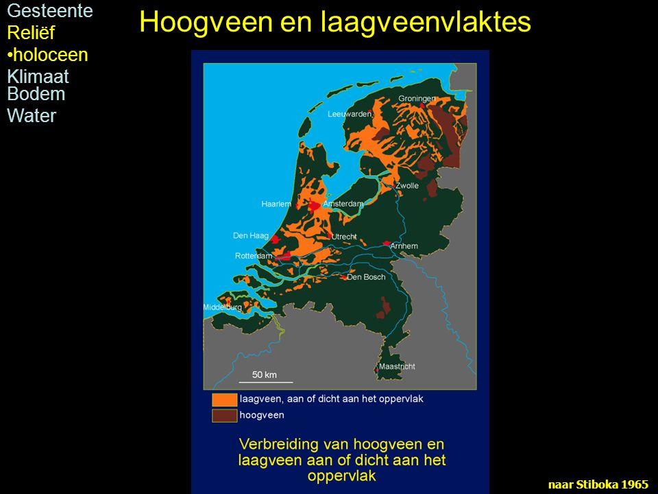 naar Stiboka 1965 Gesteente Reliëf holoceen Klimaat Bodem Water Hoogveen en laagveenvlaktes