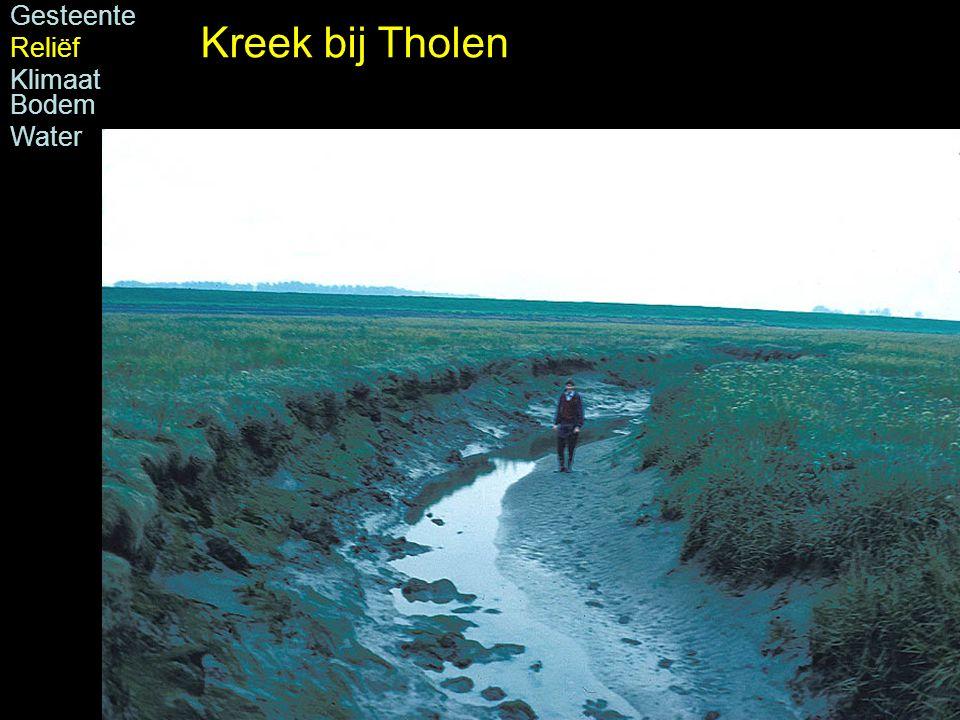Foto: H.J.A. Berendsen Gesteente Reliëf Klimaat Bodem Water Kreek bij Tholen