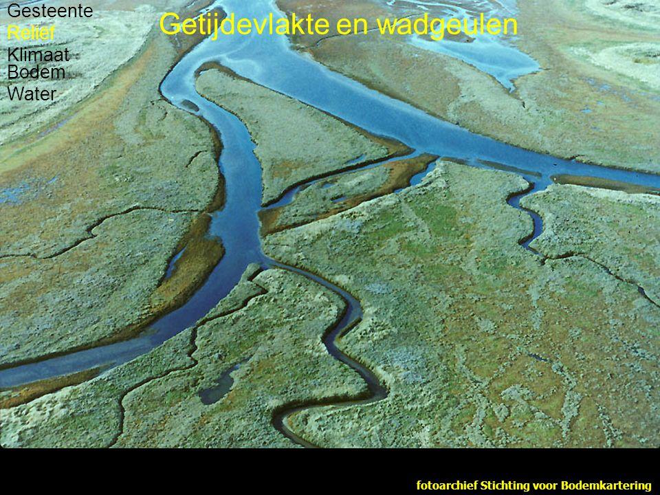 fotoarchief Stichting voor Bodemkartering Gesteente Reliëf Klimaat Bodem Water Getijdevlakte en wadgeulen