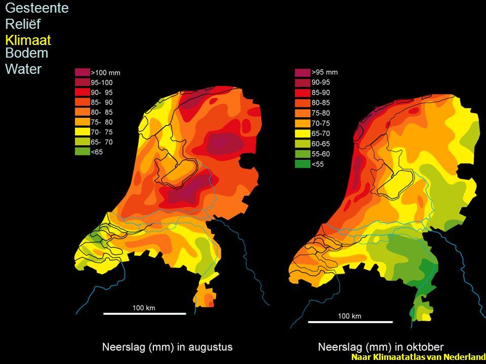 Naar Klimaatatlas van Nederland Gesteente Reliëf Klimaat Bodem Water