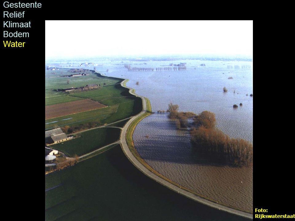 Foto: Rijkswaterstaat Gesteente Reliëf Klimaat Bodem Water