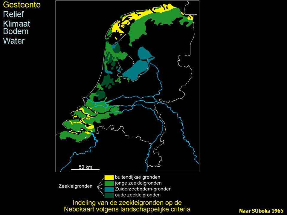 Naar Modderman 1955, uit Van de Ven 1993 Stroomruggen en kommen Gesteente Reliëf holoceen Klimaat Bodem Water