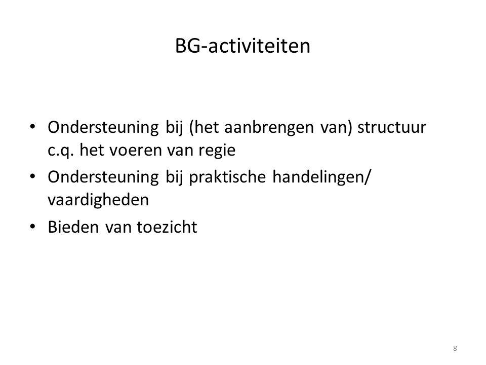BG-activiteiten Ondersteuning bij (het aanbrengen van) structuur c.q.