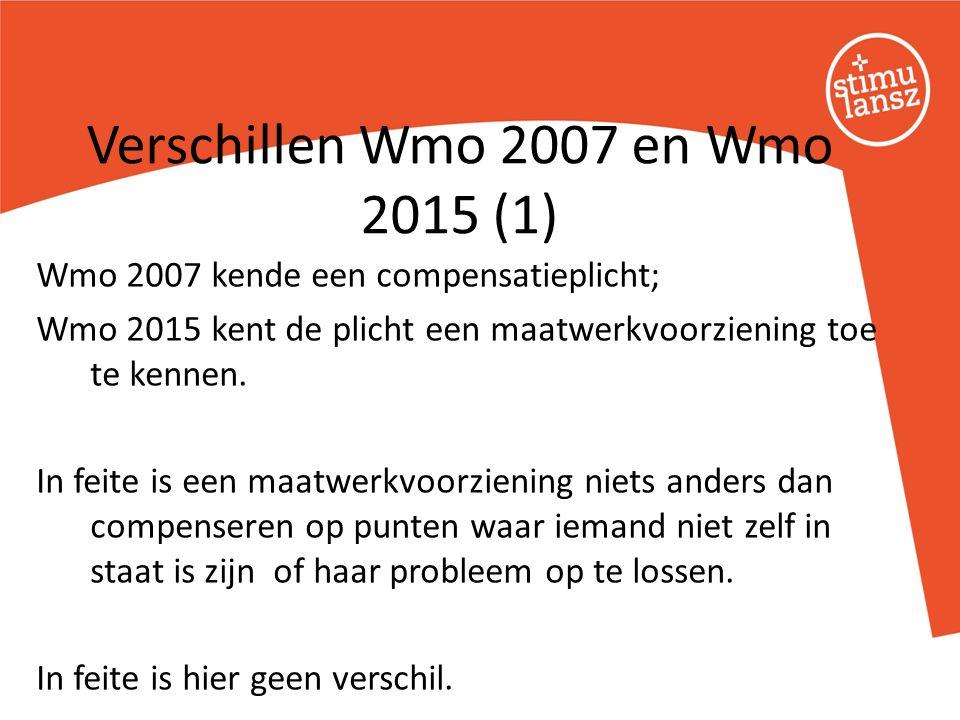 Wmo 2007 kende een compensatieplicht; Wmo 2015 kent de plicht een maatwerkvoorziening toe te kennen. In feite is een maatwerkvoorziening niets anders