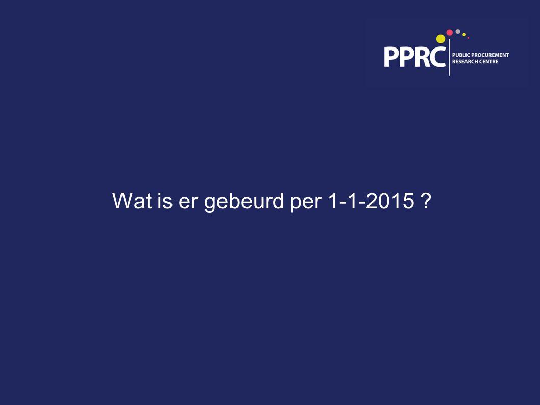 Wat is er gebeurd per 1-1-2015 ?