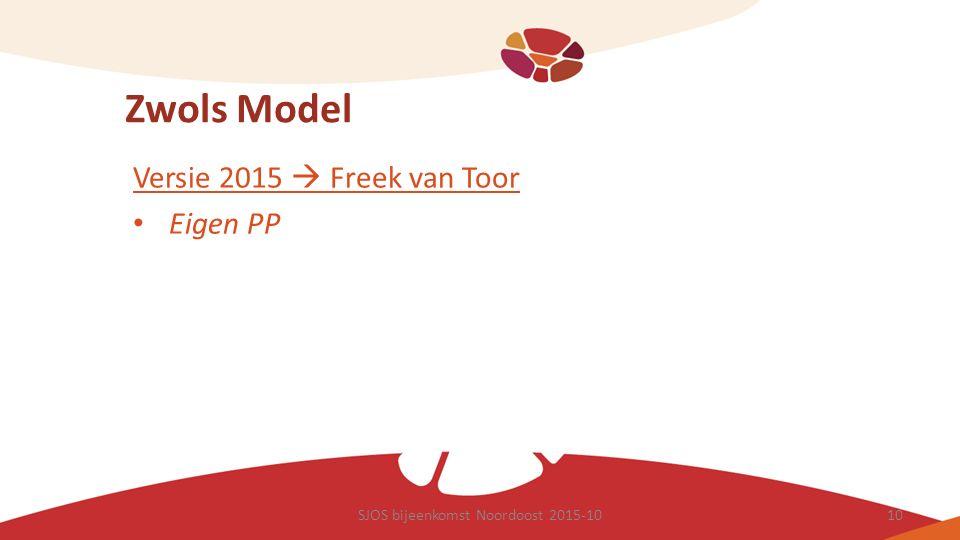Zwols Model Versie 2015  Freek van Toor Eigen PP SJOS bijeenkomst Noordoost 2015-1010
