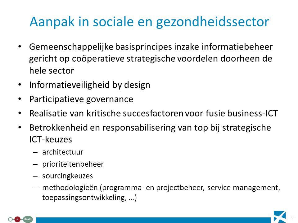 Aanpak in sociale en gezondheidssector Gemeenschappelijke basisprincipes inzake informatiebeheer gericht op coöperatieve strategische voordelen doorhe