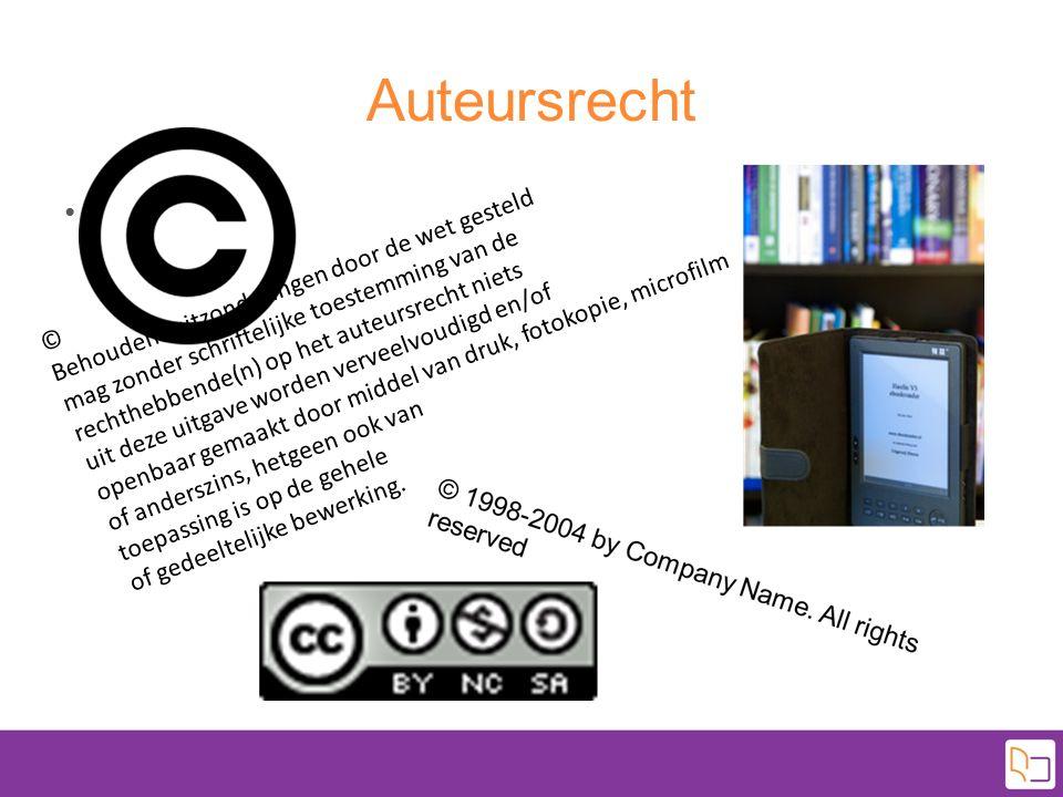 Auteursrecht Tekst © Behoudens uitzonderingen door de wet gesteld mag zonder schriftelijke toestemming van de rechthebbende(n) op het auteursrecht nie