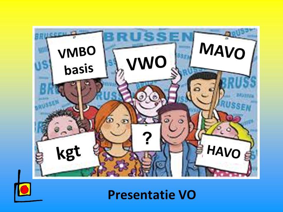 VMBO basis VWO MAVO ? kgt HAVO Presentatie VO