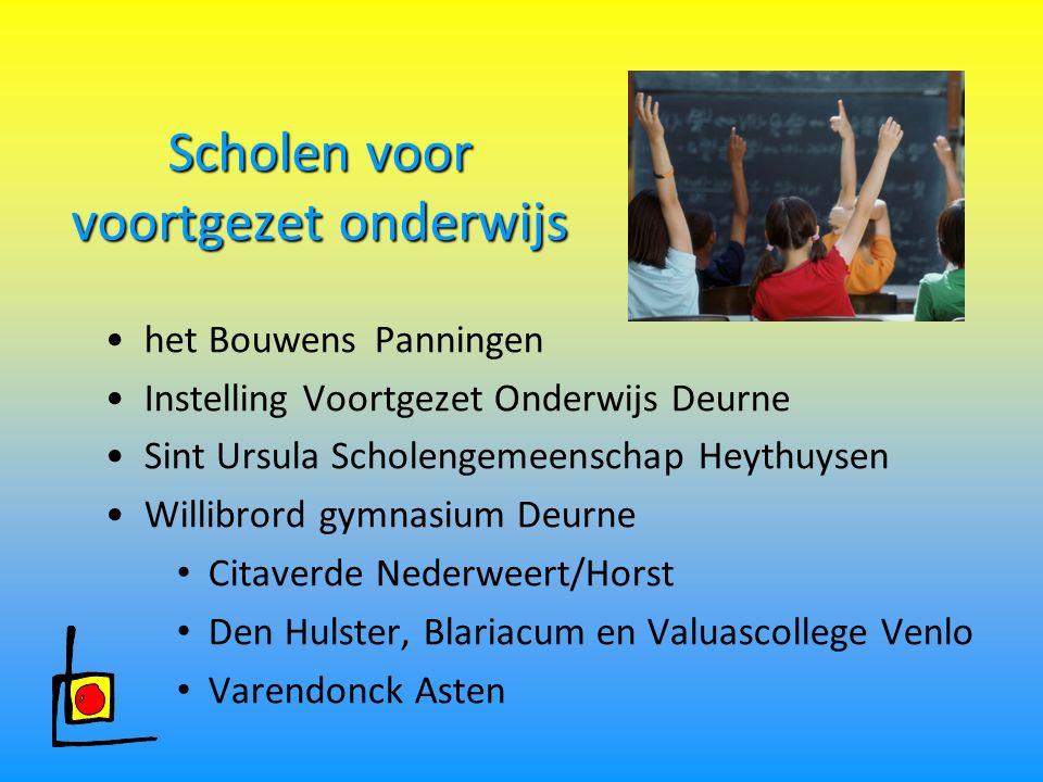 Scholen voor voortgezet onderwijs het Bouwens Panningen Instelling Voortgezet Onderwijs Deurne Sint Ursula Scholengemeenschap Heythuysen Willibrord gy