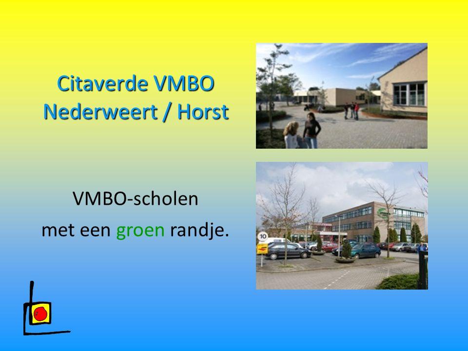 Citaverde VMBO Nederweert / Horst VMBO-scholen met een groen randje.