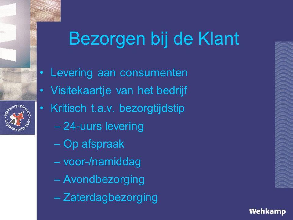 Bezorgen bij de Klant Levering aan consumenten Visitekaartje van het bedrijf Kritisch t.a.v.