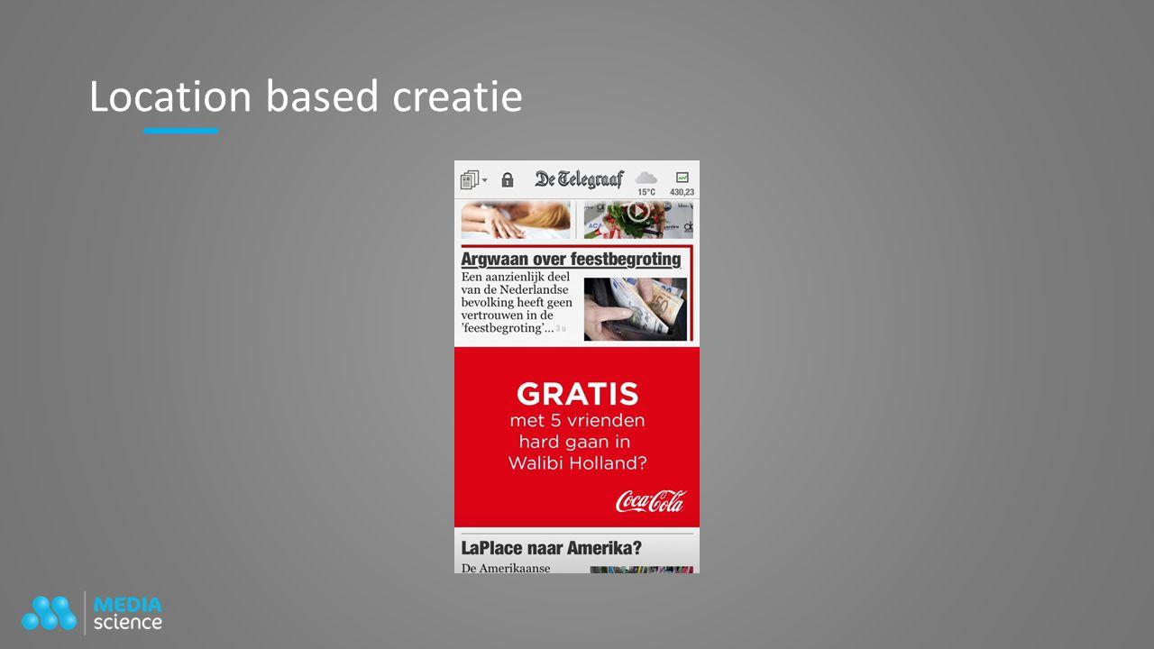 Location based creatie