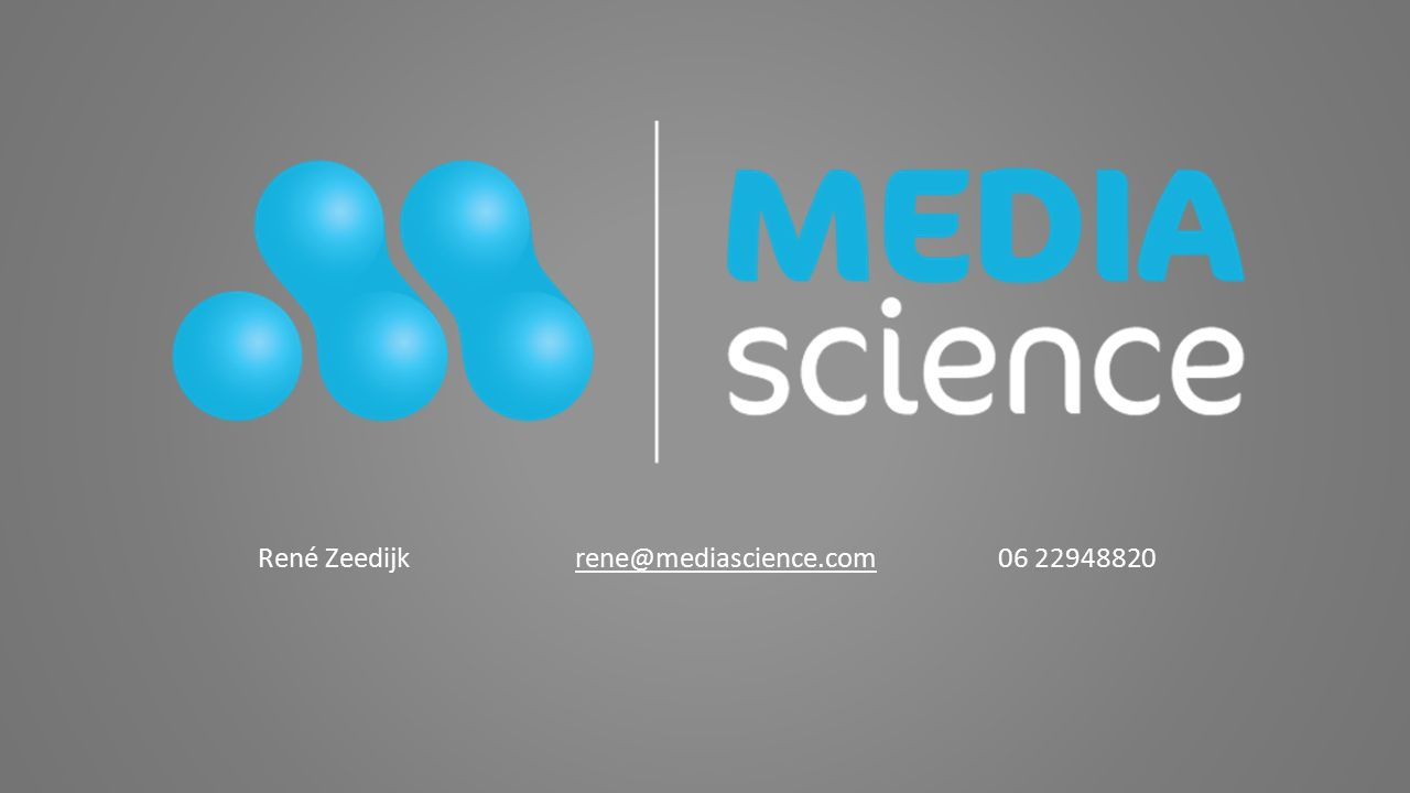 René Zeedijkrene@mediascience.com06 22948820