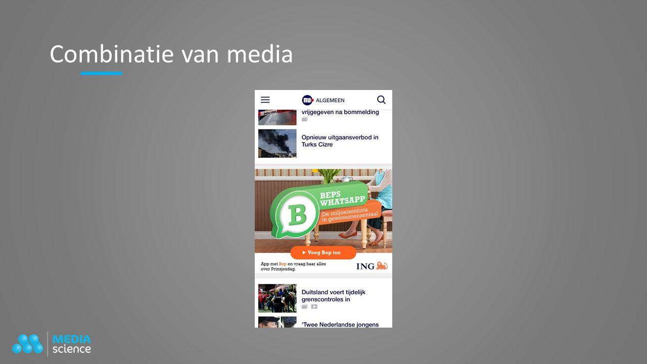 Combinatie van media