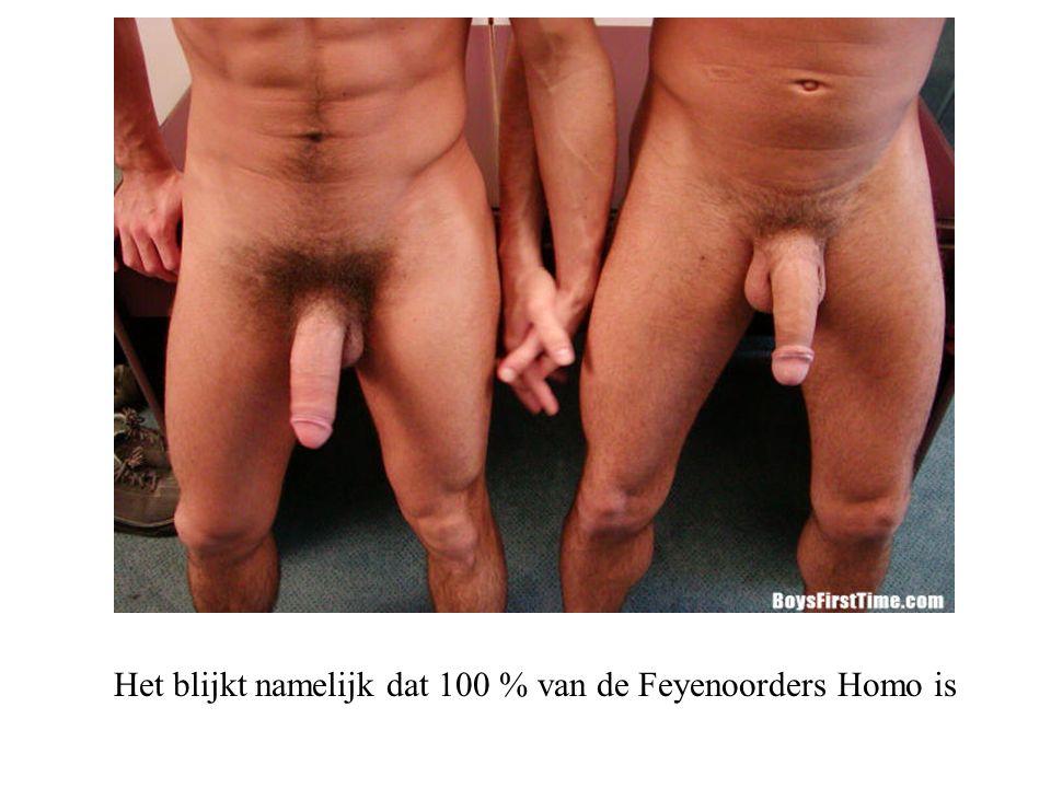 Het blijkt namelijk dat 100 % van de Feyenoorders Homo is
