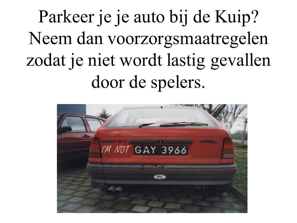 Parkeer je je auto bij de Kuip.