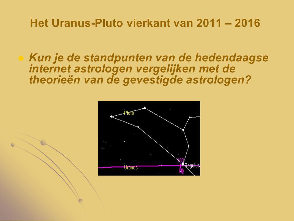 Het Uranus-Pluto vierkant van 2011 – 2016 Kun je de standpunten van de hedendaagse internet astrologen vergelijken met de theorieën van de gevestigde
