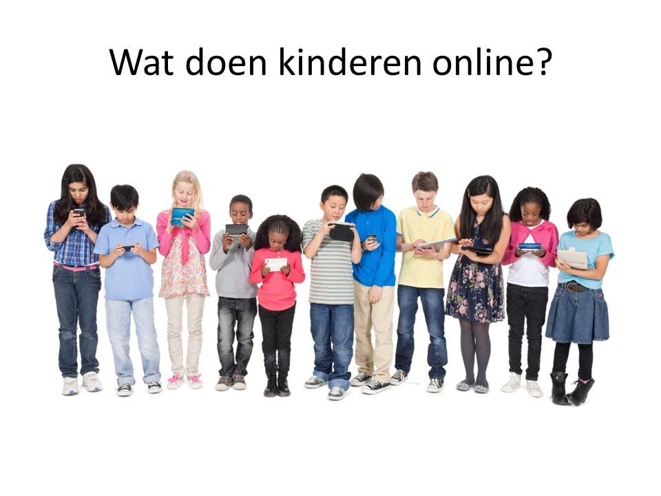 Wat doen kinderen online?