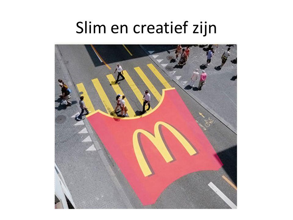 Slim en creatief zijn