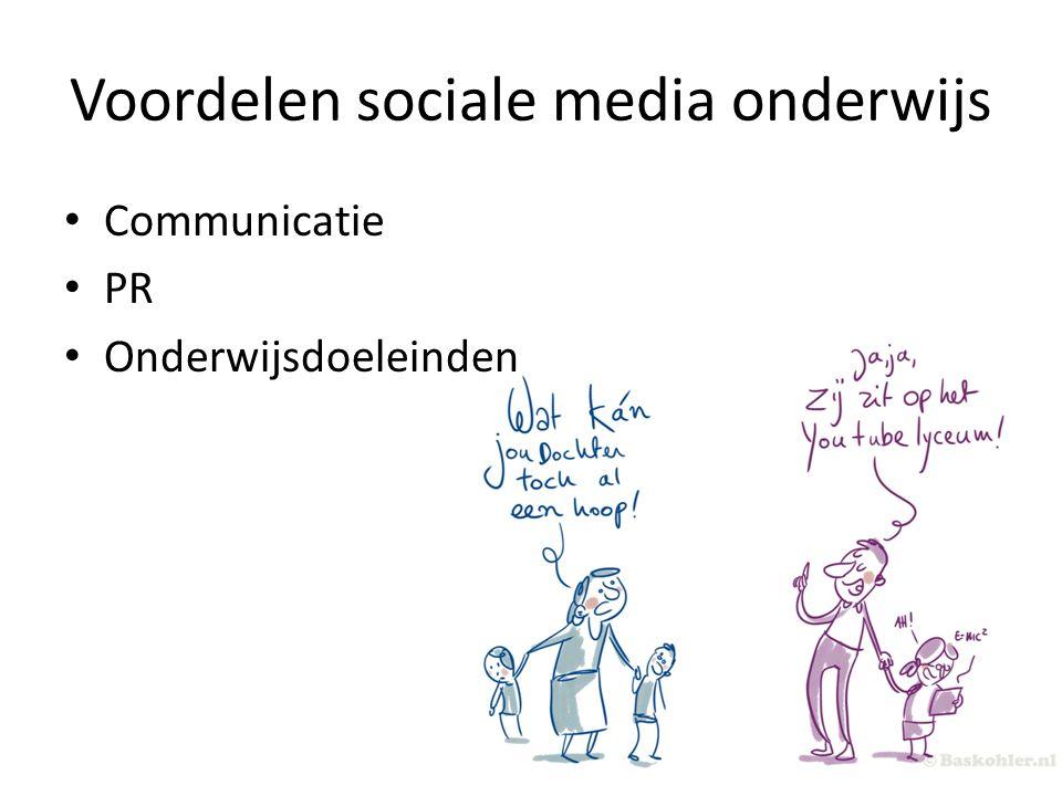 Voordelen sociale media onderwijs Communicatie PR Onderwijsdoeleinden