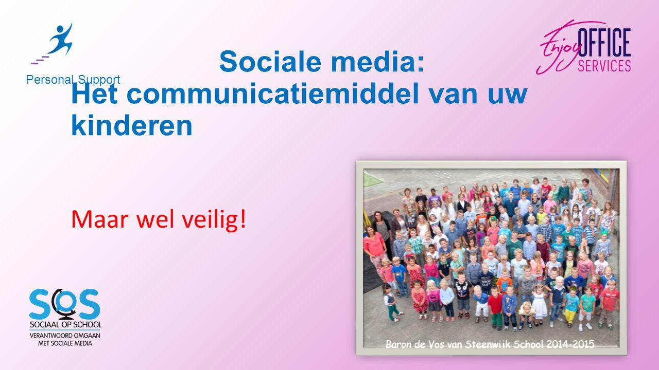 Sociale media: Het communicatiemiddel van uw kinderen Personal Support Maar wel veilig!
