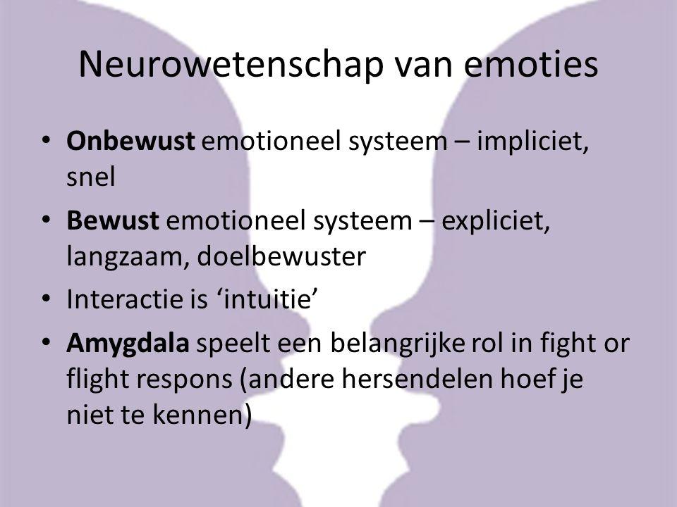 Hormonen Serotonine – emotieregulatie Epinefrine (adrenaline) – vecht of vluchtreactie, actie.