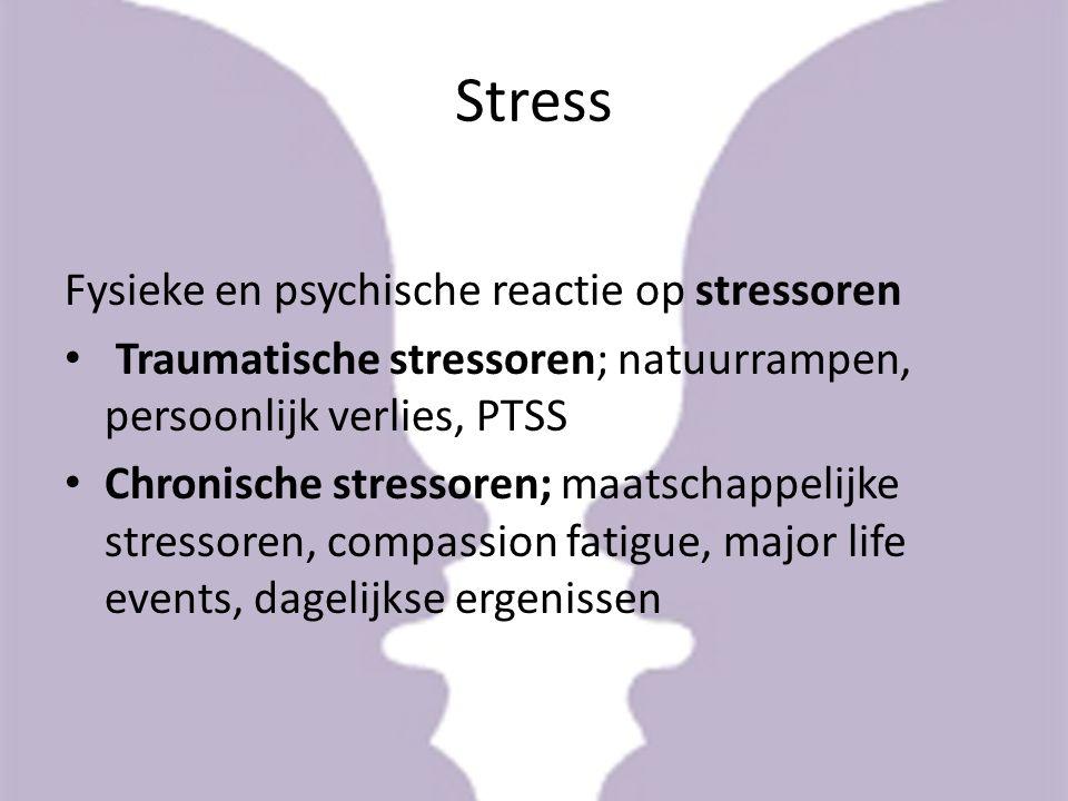 Wie….heeft de minste stress.