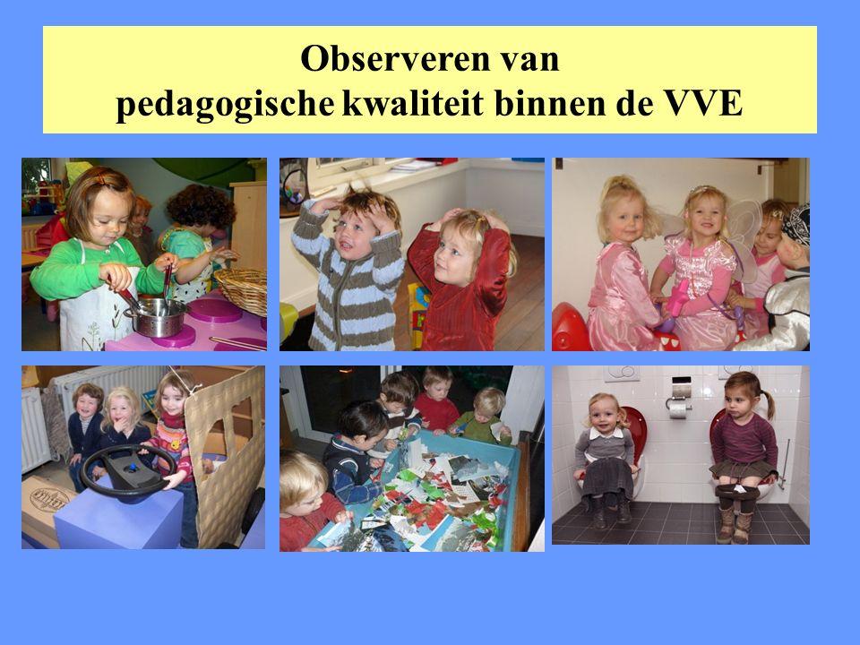 Observeren van pedagogische kwaliteit binnen de VVE