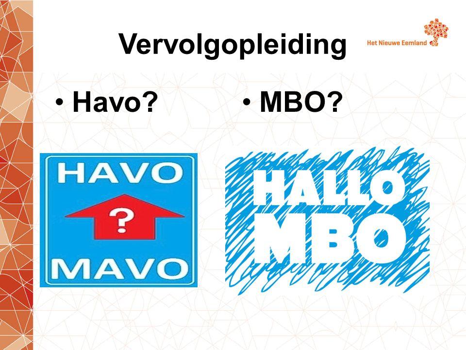 Vervolgopleiding Havo MBO