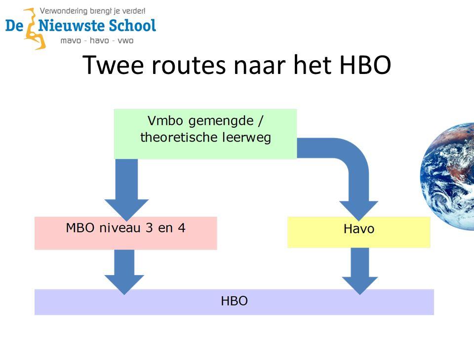 Twee routes naar het HBO
