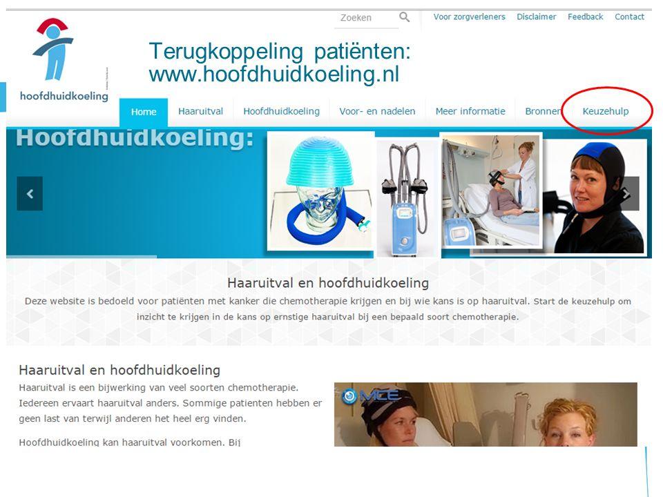 Terugkoppeling patiënten: www.hoofdhuidkoeling.nl