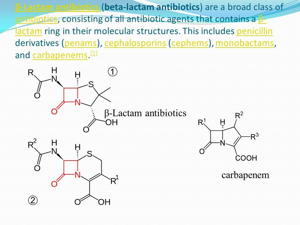 Resistentie tegen antibiotica Bacteriën kunnen resistent zijn tegen antibiotica als ze beschikken over het enzym beta-lactamase Dit enzym knipt in de beta-lactam ring van penicilline achtige antibiotica Vaak wordt samen met deze antibiotica clavulaanzuur gegeven, dat beta lactamasen remt.