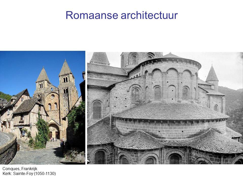 Romaanse architectuur Conques, Frankrijk Kerk: Sainte-Foy (1050-1130)