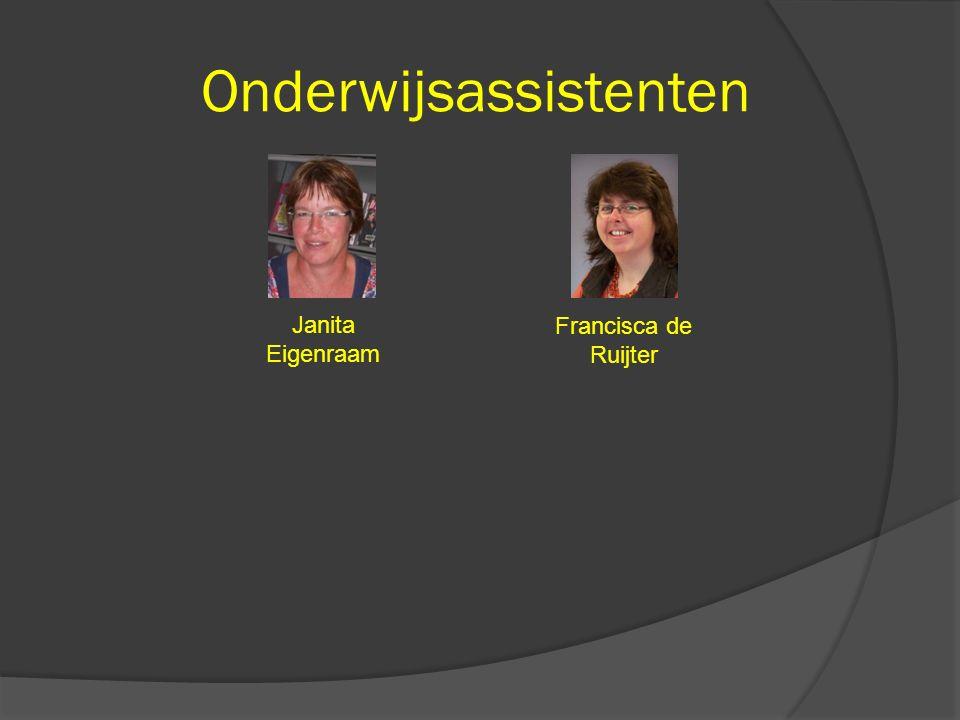 Onderwijsassistenten Janita Eigenraam Francisca de Ruijter