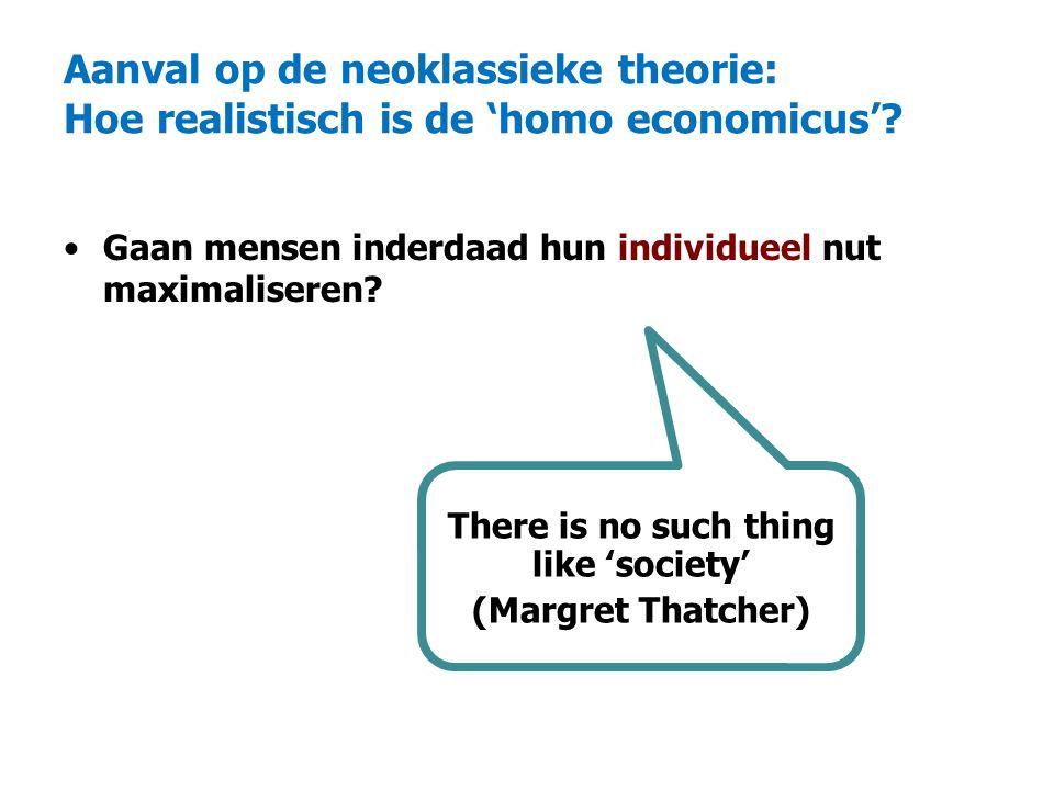 Aanval op de neoklassieke theorie: Hoe realistisch is de 'homo economicus'.