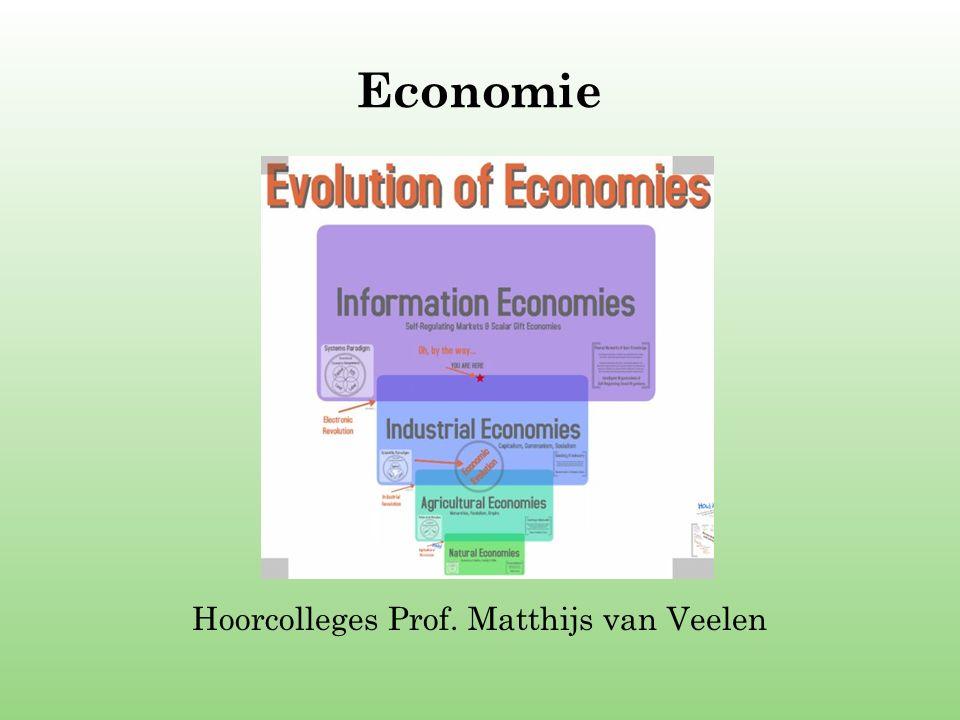 Economie Hoorcolleges Prof. Matthijs van Veelen