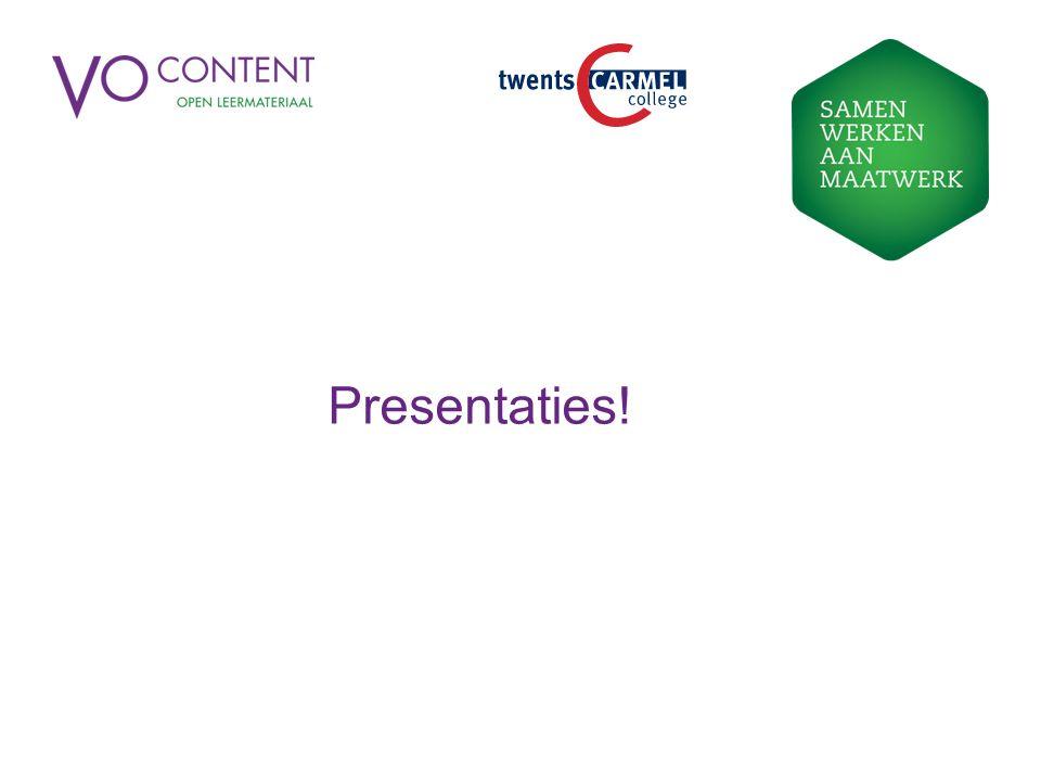 Presentaties!