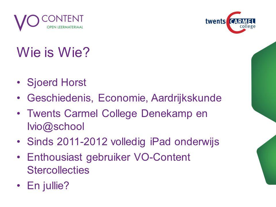 Inhoud workshop Wat is VO-content.Wat zijn de Stercollecties.