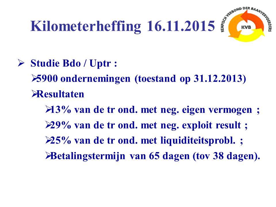  Studie Bdo / Uptr :  5900 ondernemingen (toestand op 31.12.2013)  Resultaten  13% van de tr ond.