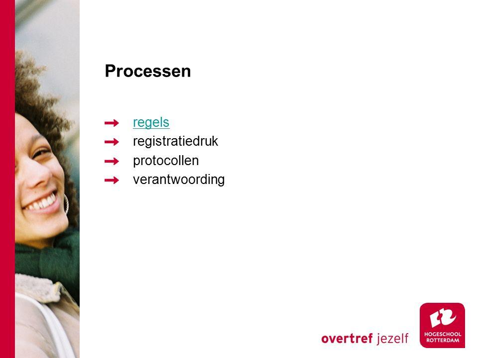 Processen regels registratiedruk protocollen verantwoording